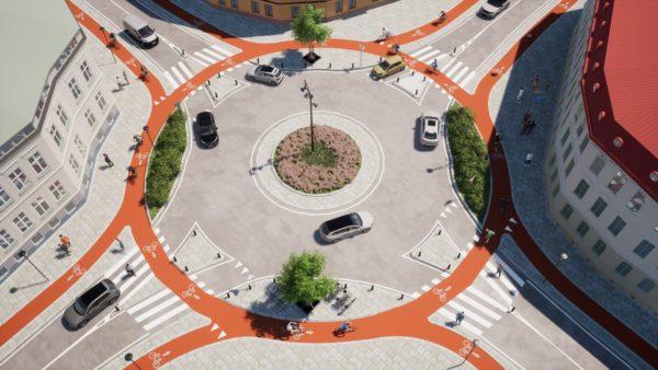 Rotonda ciclabile concept